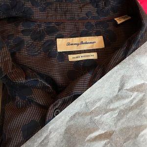 Tommy Bahama XXL, TTG Floral Grey  Casual  Shirt